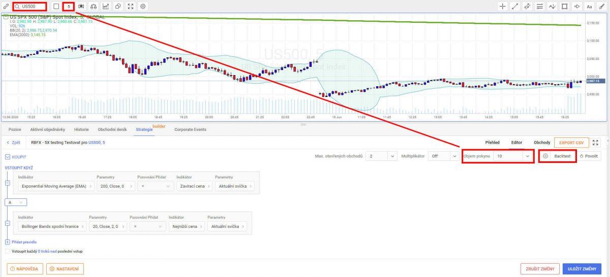 Automatický Obchodní Systém (AOS) -Backtest v R Trader