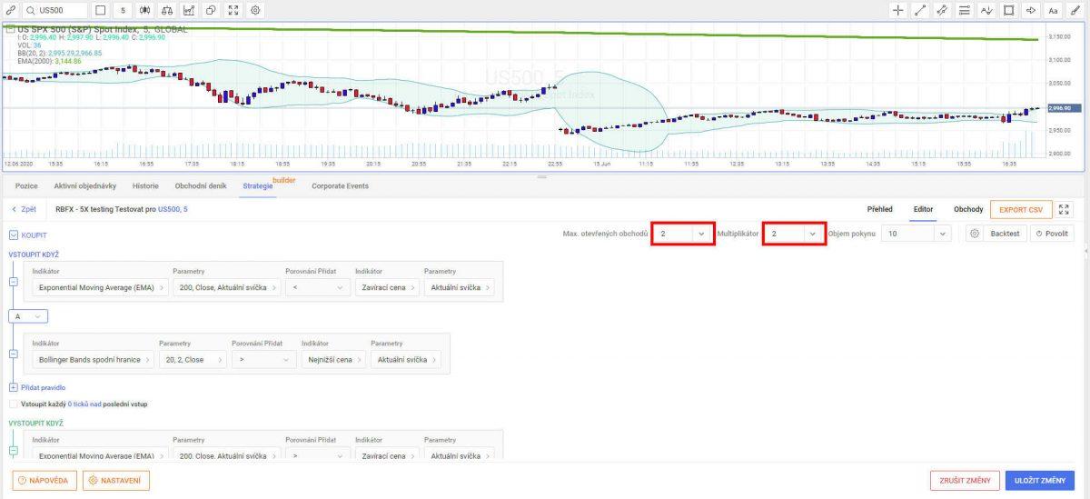 Vyšší počet otevřených pozic Automatickým Obchodním Systémem (AOS) v R Trader