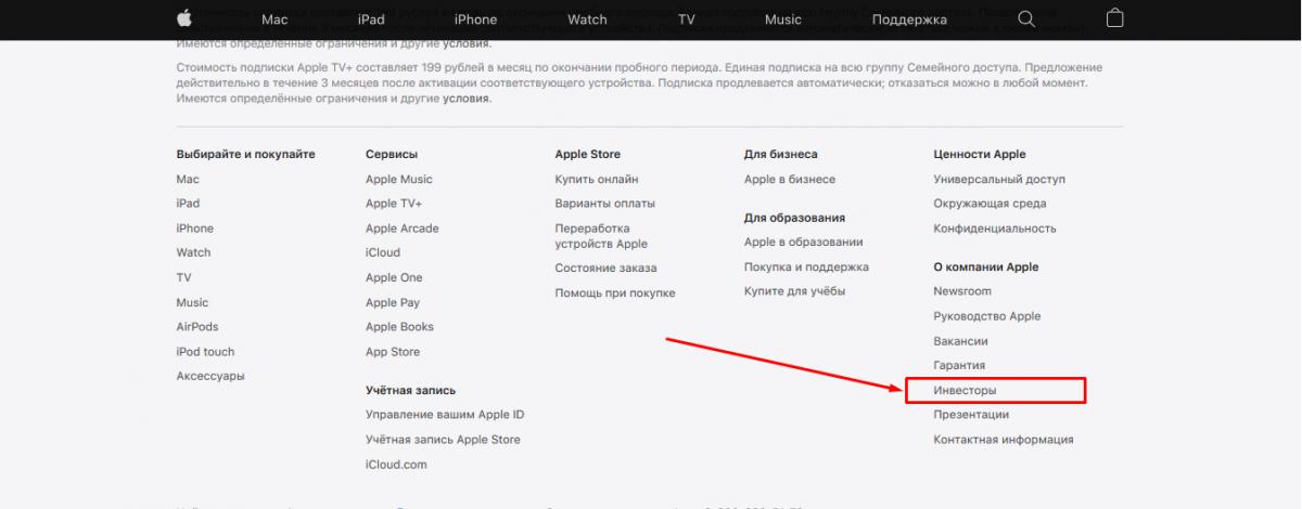 Apple (AAPL) - поиск отчетов для инвесторов