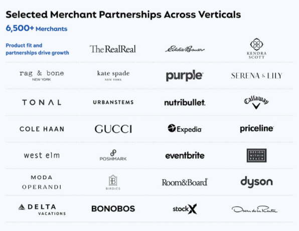 Affirm Holdings partners