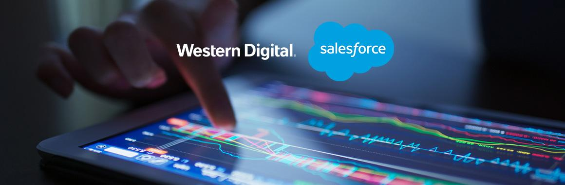 Что повлияло на стоимость акций Salesforce и Western Digital?