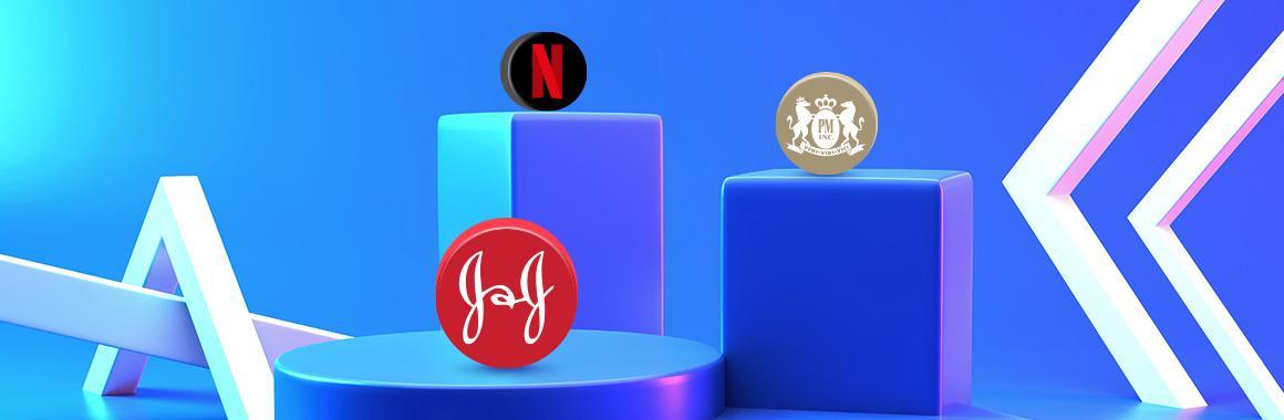 Акции Netflix, Johnson & Johnson и Philip Morris неоднозначно отреагировали на квартальные отчёты