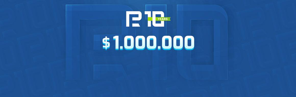 Акція на $ 1 000 000! Грандіозний розіграш на честь 10-річчя RoboForex
