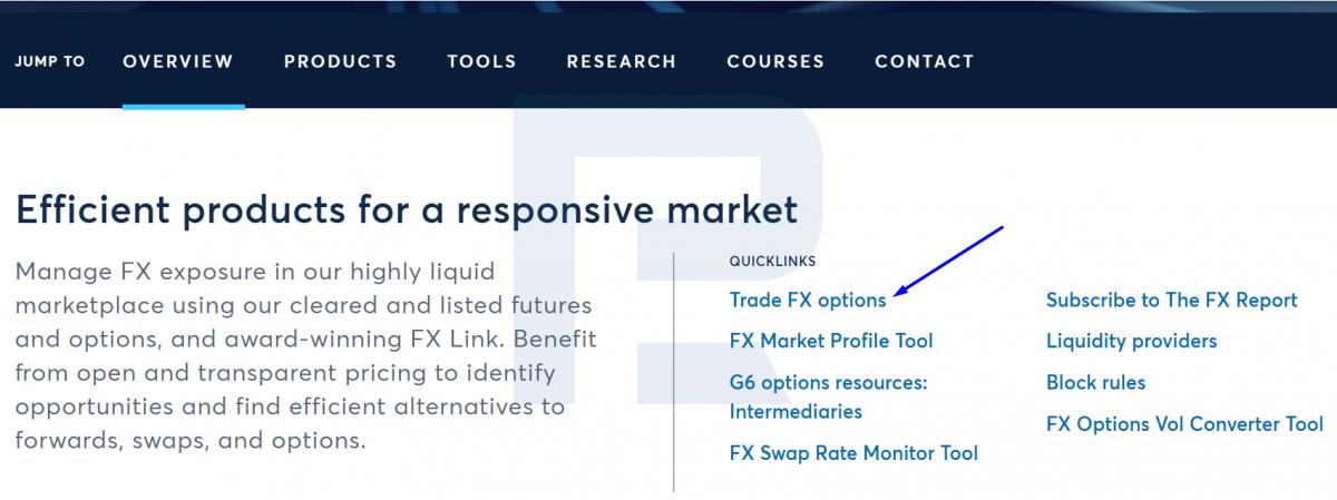 Сайт біржи CME