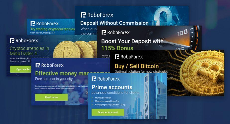 لافتات RoboForex