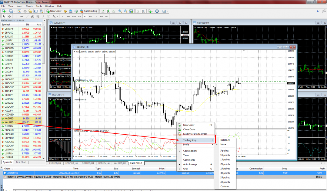 Trailing Stop - MetaTrader 4
