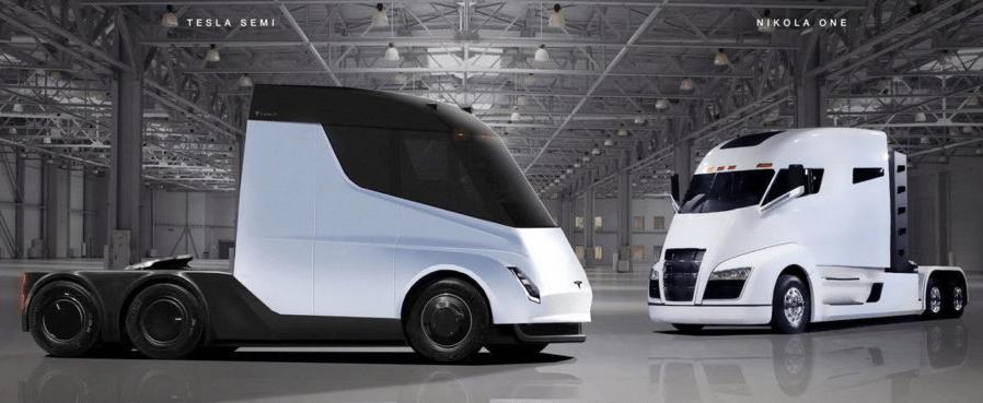 Дизайн грузовиков Tesla и Nikola
