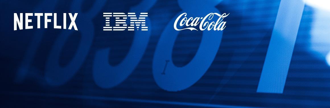 Ceturkšņa pārskati no IBM, Netflix, Coca-Cola