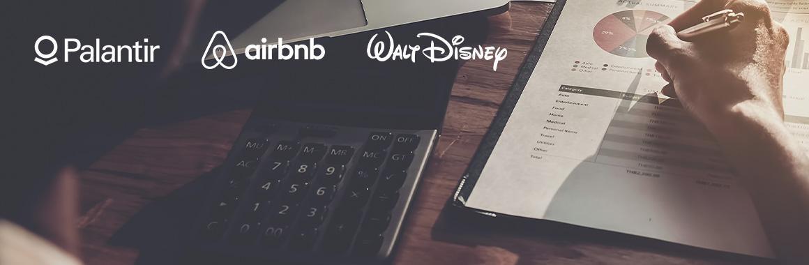 Quarterly Reports of Walt Disney, Airbnb, and Palantir