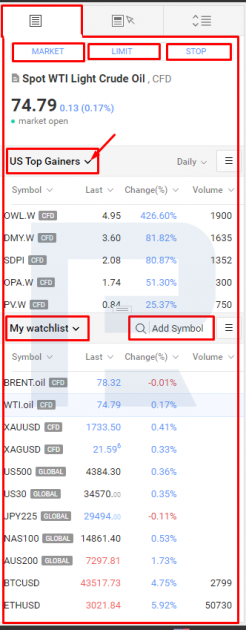 Jälgimisloendite haldamine platvormil R StocksTrader